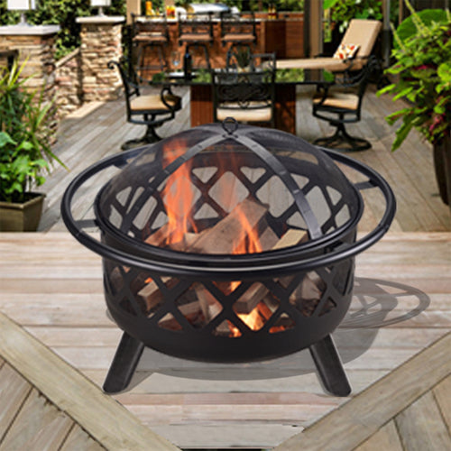 Peaktop Outdoor Garden Patio Heater Steel Fire Pit Firepit CU296