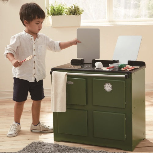 Teamson Kids Traditional Farmhouse Range Cooker Green