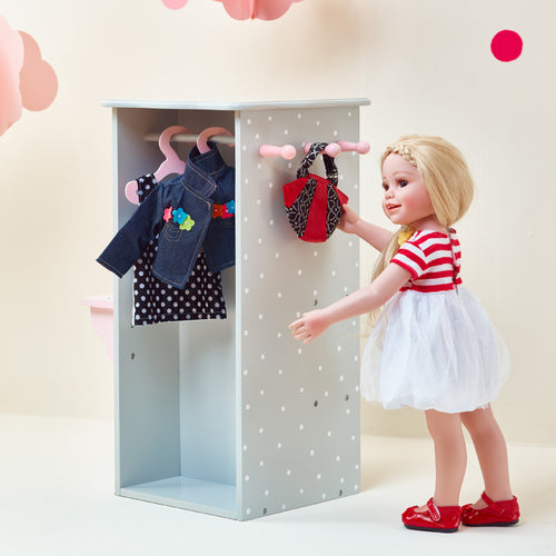 "Olivias Little World 18"" Baby Doll Furniture Closet Storage Tidy Play TD-0094AG"