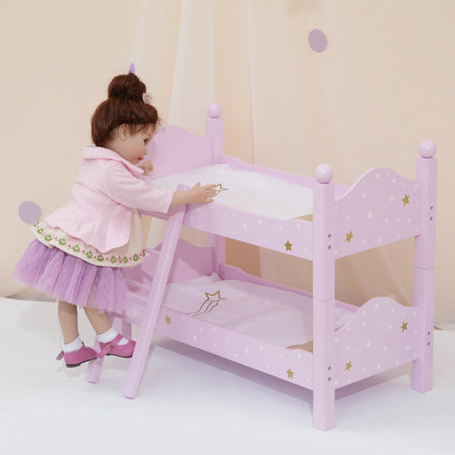 "Olivias Little World 18"" Baby Doll Furniture Double Bunk Bed Doll Play TD-0095AP"