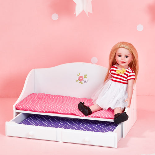 Olivia's Little World Baby Doll Furniture Trundle Bed by Teamson Kids
