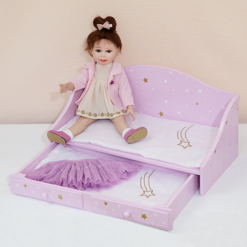 "Olivias Little World 18"" Baby Doll Furniture Trundle Bed Dolls Play TD-0096AP"