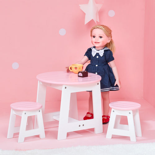 Olivia's Little World Baby Doll Furniture Outdoor Table & 2 Chairs Set  by Teamson Kids