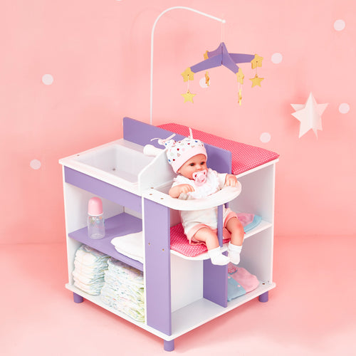 Olivia's Little World Baby Doll Furniture Baby Changing Station with Storage by Teamson Kids