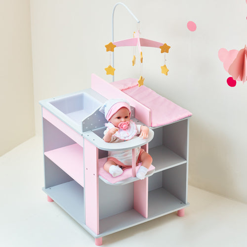 Olivia's Little World Doll Furniture Polka Dot Baby Changing Station by Teamson Kids