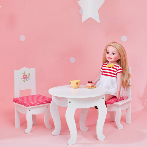 Olivia's Little World Baby Doll Furniture Table & 2 Chairs Set  by Teamson Kids