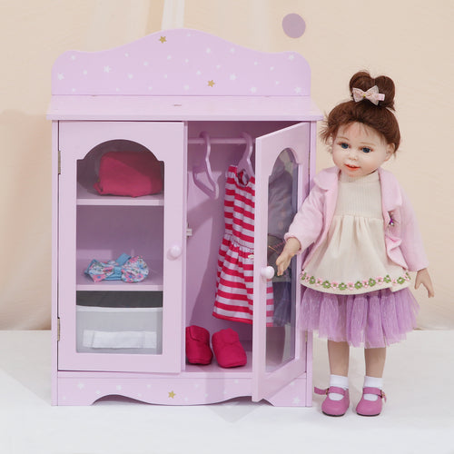 "Olivias Little World 18"" Baby Doll Furniture Closet Storage Role Play TD-0210AP"