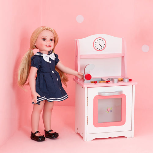 Olivia's Little World Baby Doll Furniture Sweet Pink Kitchen  by Teamson Kids