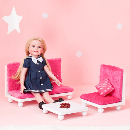 Olivia's Little World Baby Doll Furniture Pink Lounge Set by Teamson Kids