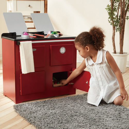 Teamson Kids Traditional Farmhouse Range Cooker Red
