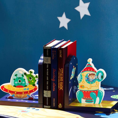 Fantasy Fields by Teamson Outer Space Set Of Bookends