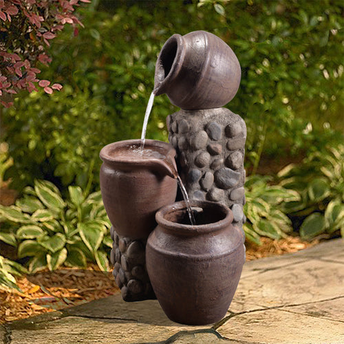 Peaktop Outdoor Décor Garden Pot Waterfall Pump Fountain Water Feature VFD8210
