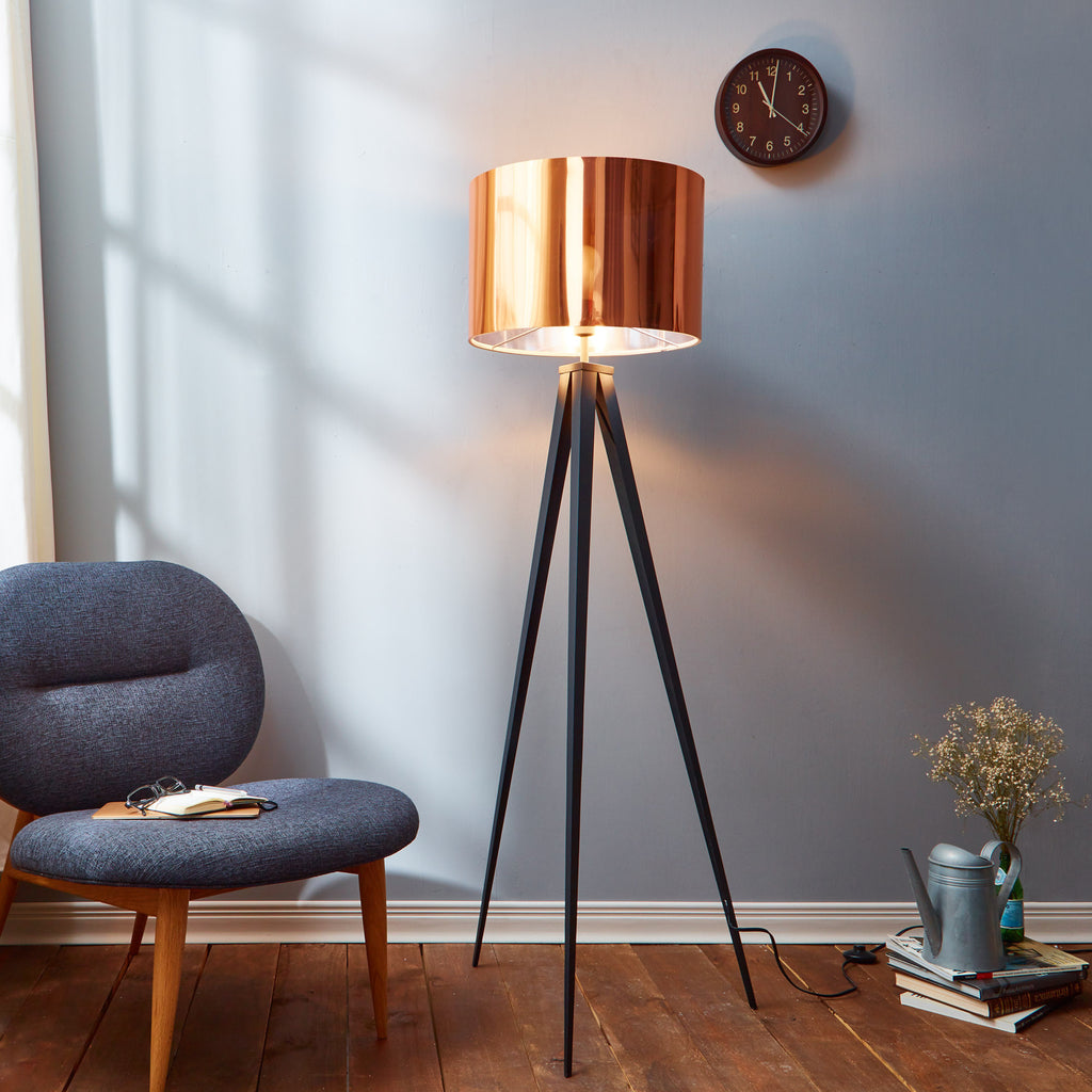 Versanora romanza tripod floor lamp with copper shade home goods uk versanora romanza tripod floor lamp with copper shade aloadofball Gallery