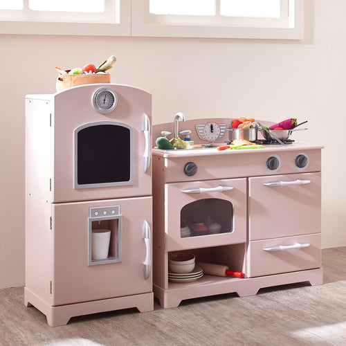 Teamson Kids Classic Play Kitchen - Pink (2 Piece)