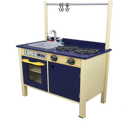 Teamson Kids Wooden Kitchen Navy