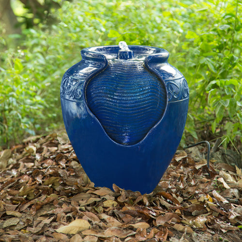 Peaktop Outdoor Décor Garden Blue Water Pump Fountain Water Feature YG0036A