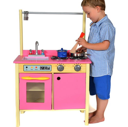 Teamson Kids Wooden Kitchen Bubblegum