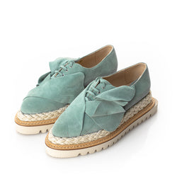 Bleu tulips flat platform shoes
