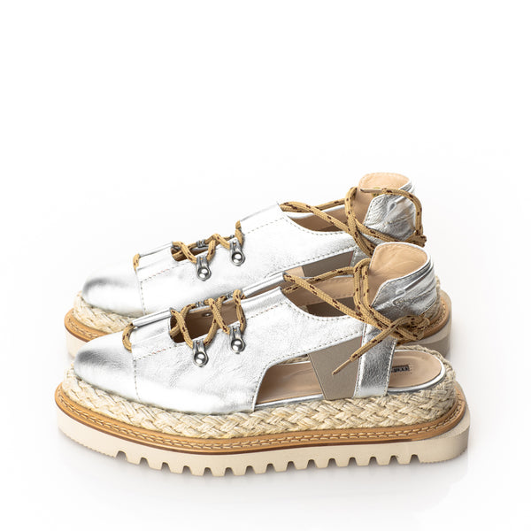 Summer Sense Silver Flat  Shoes