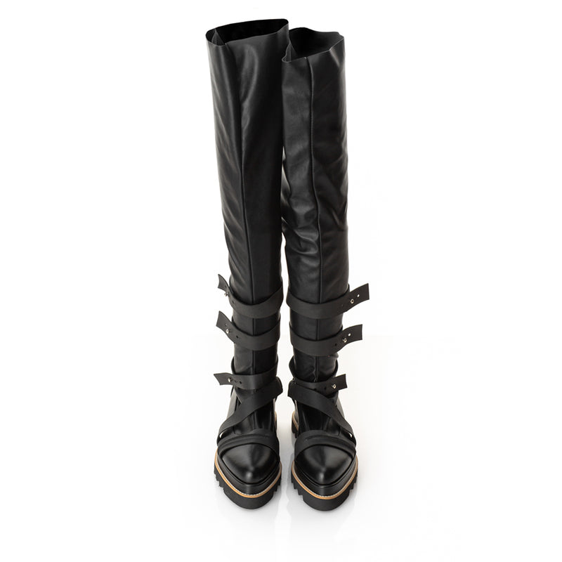 Easy Stretch Black Boots long version