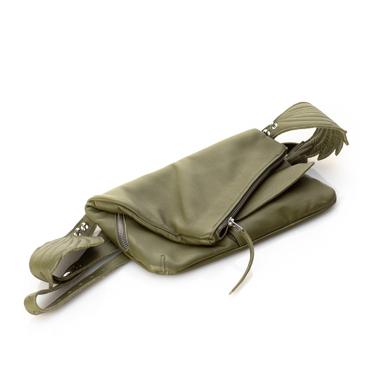 Fly Away With Me Khaki Bum Bag