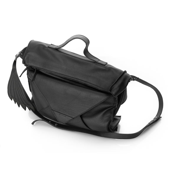 Windy Black Leather Bag