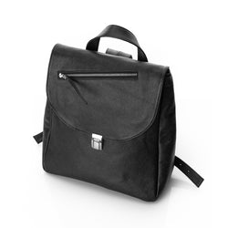 Zipper Line Black Backpack