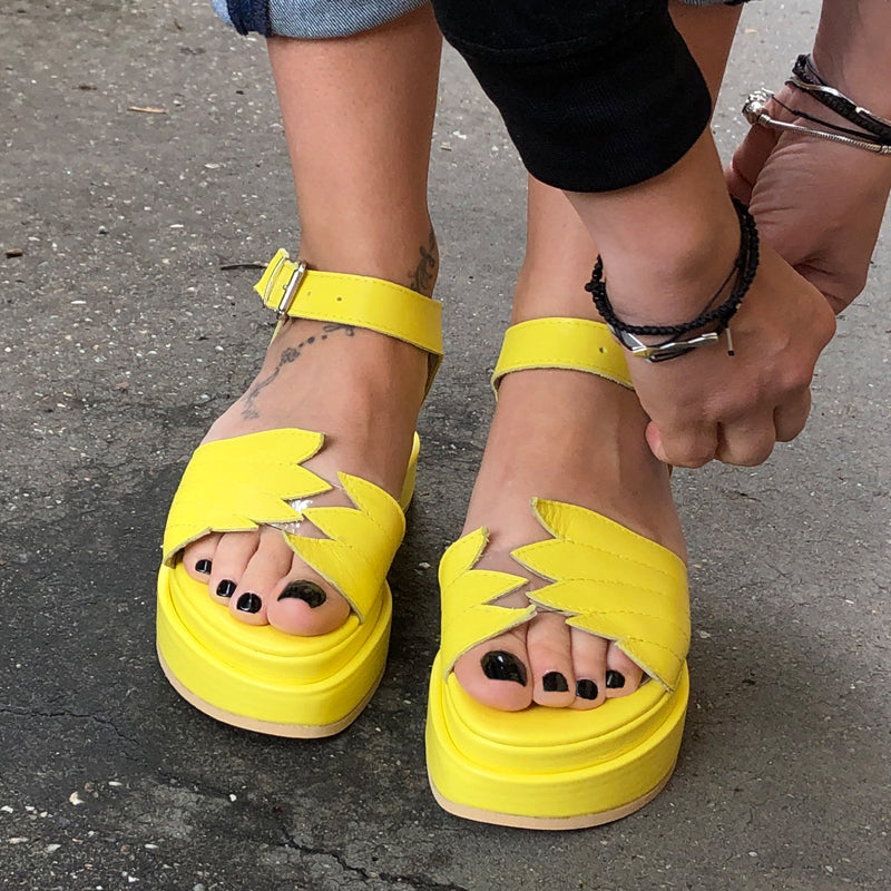 Fly With Me Yellow Sandals