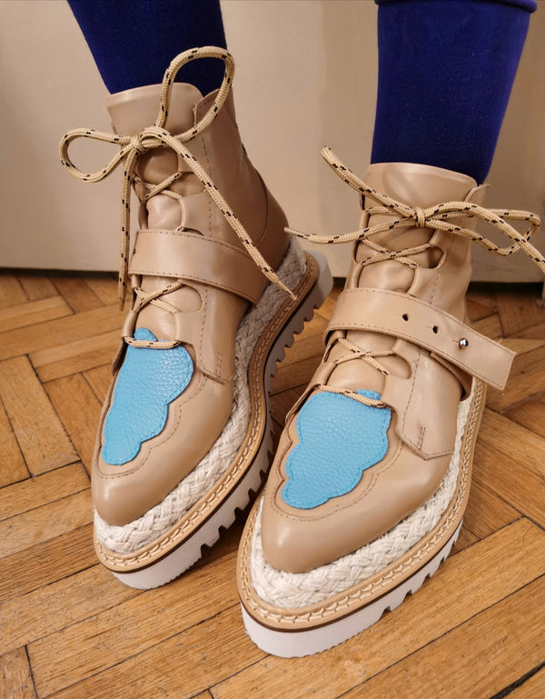 Blue Acid Cloud booties