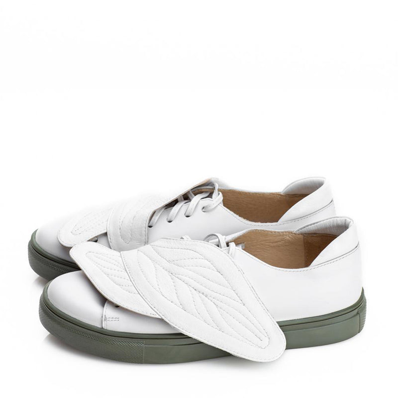 Leaves Hug White Sneakers