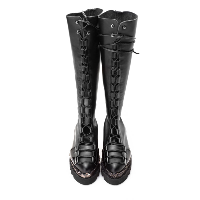 Glam Touch Black Boots