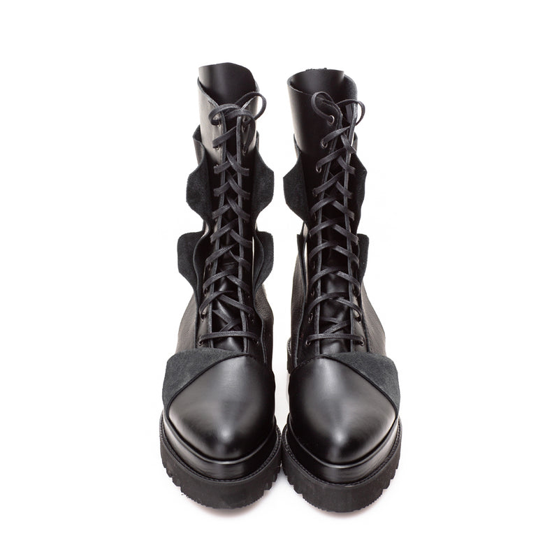 Liquify Lace Up Boots
