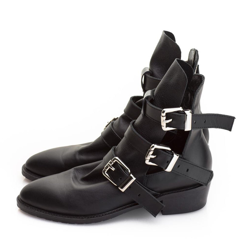 Strappy Reunion Pointed Booties