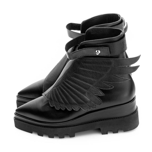 Wings Black Boots