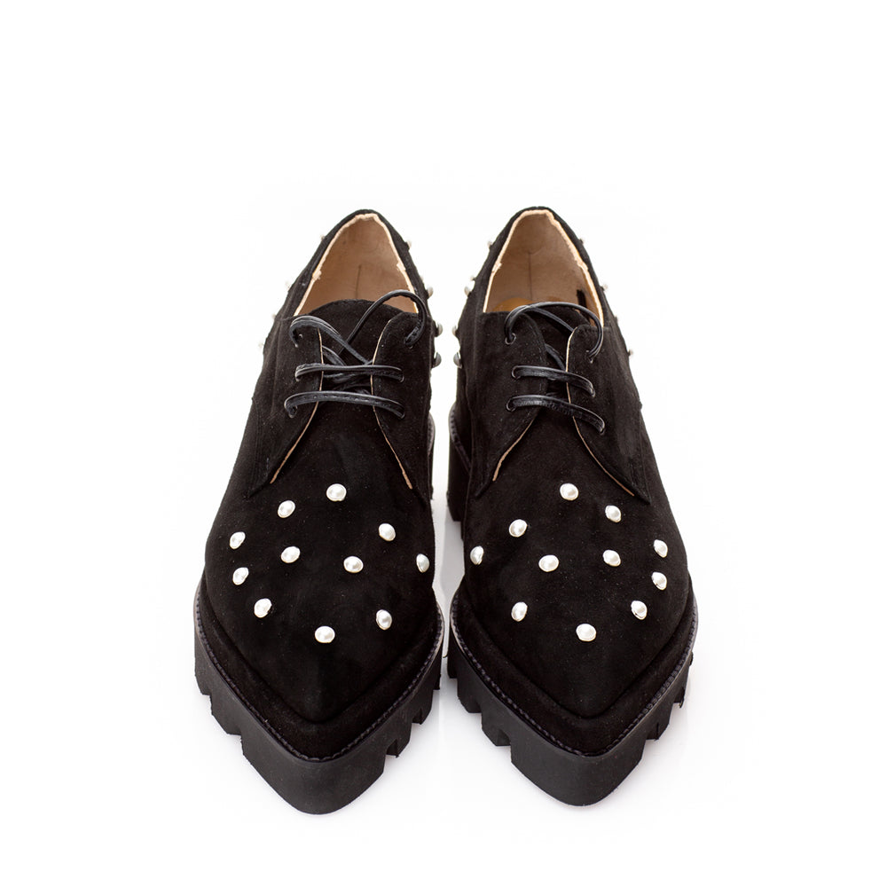 Pantofi SWEET PEARLS ON VELVET P686 . 522