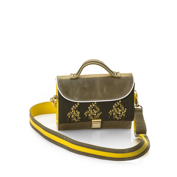 Lily of the Valley Khaki Bag