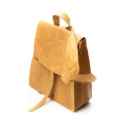 Seagulls Camel Suede Backpack