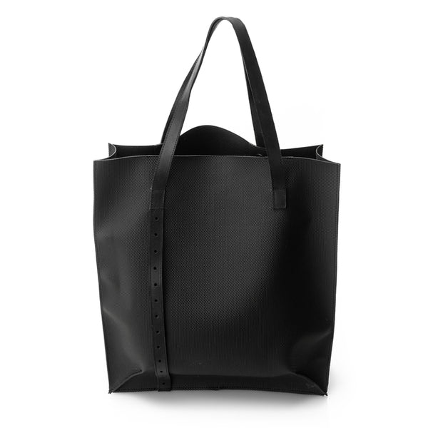 Techno Bubble Black Tote Bag