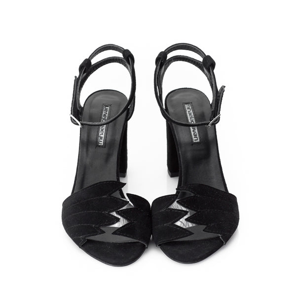 Fly With Me Black Sandals