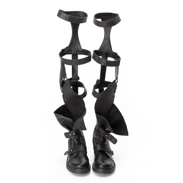 Fly with Me Gladiator Black Boots