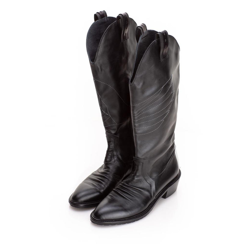 Urban Wings Ride Black Pointed Boots