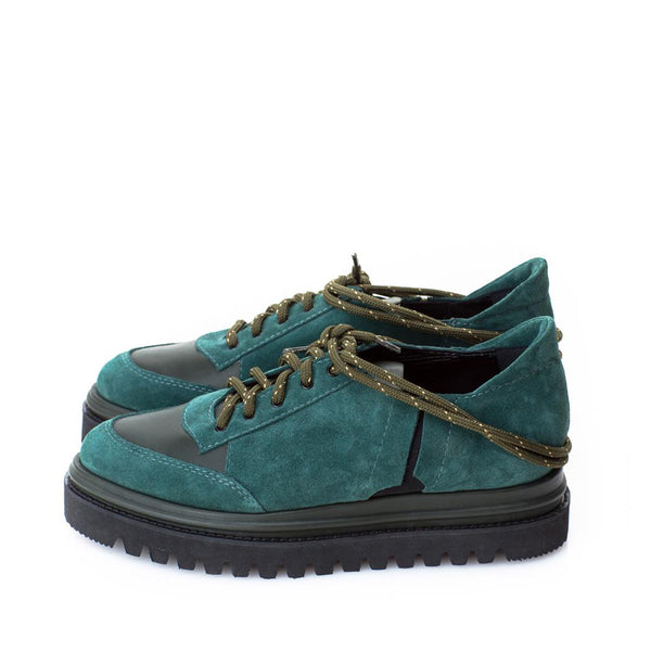 New Retro Green Suede Shoes