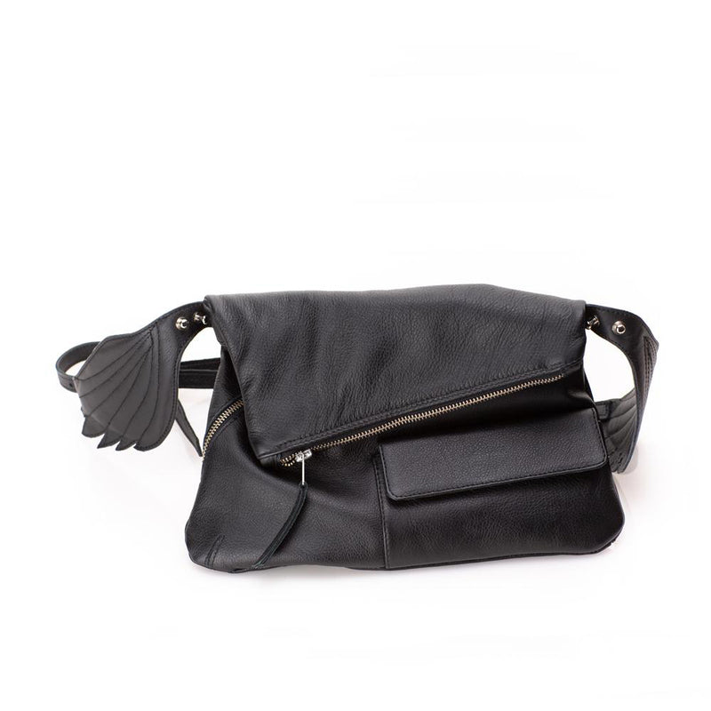Fly Away With Me Black Bum Bag