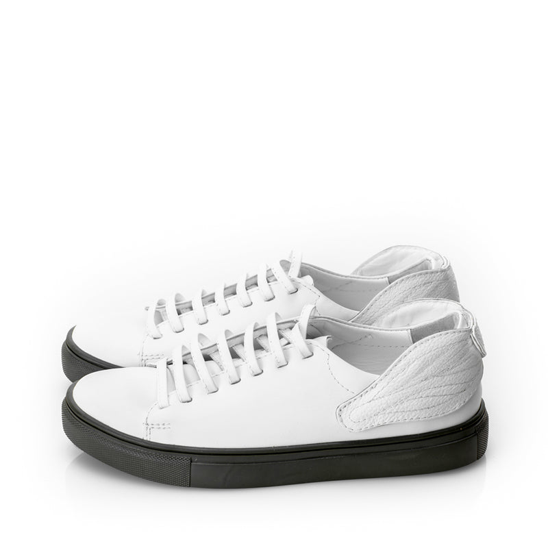 Leaves Reunion White and Khaki Sneakers