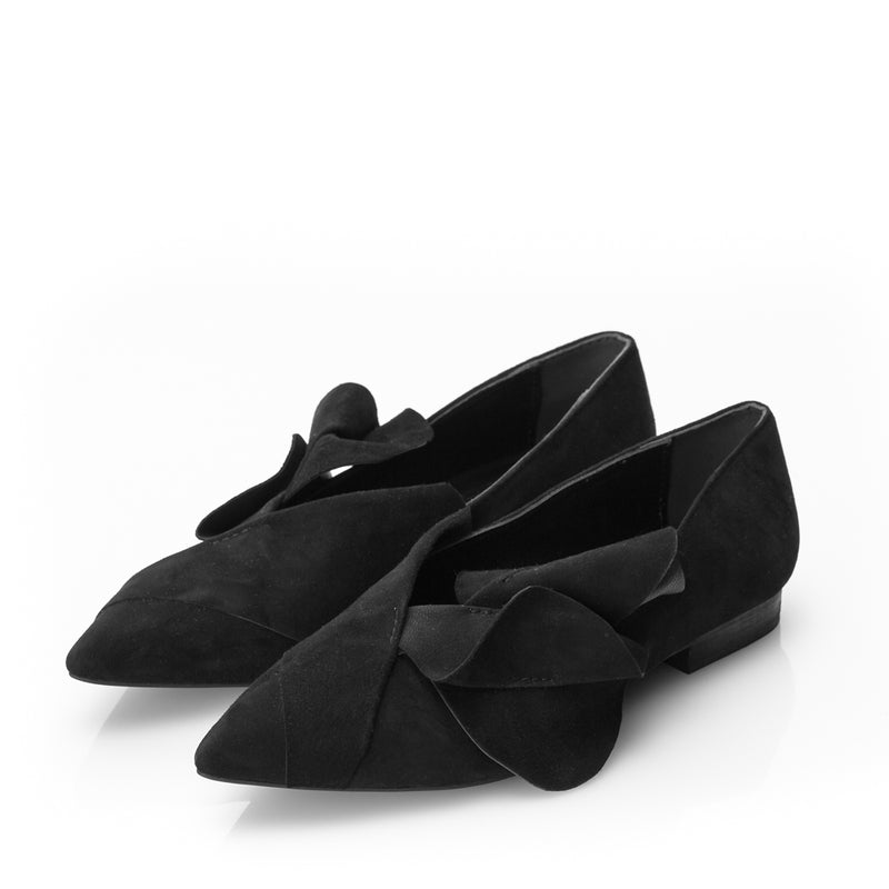 Ageless suede flats