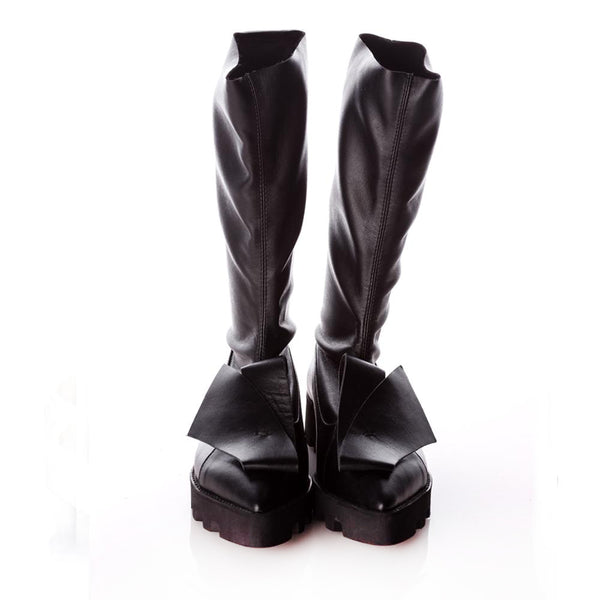Stretch Honest Bow Black Boots