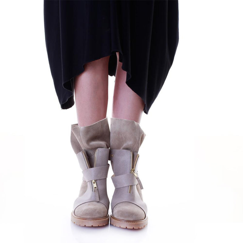 Layers Beige Boots