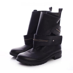 Zipper Charm Short Boots