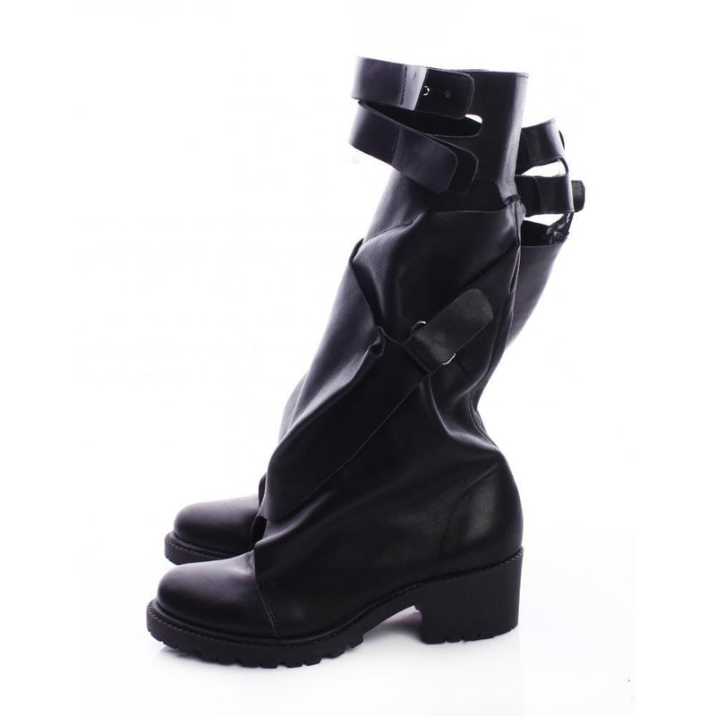 Double Fold and Straps Boots