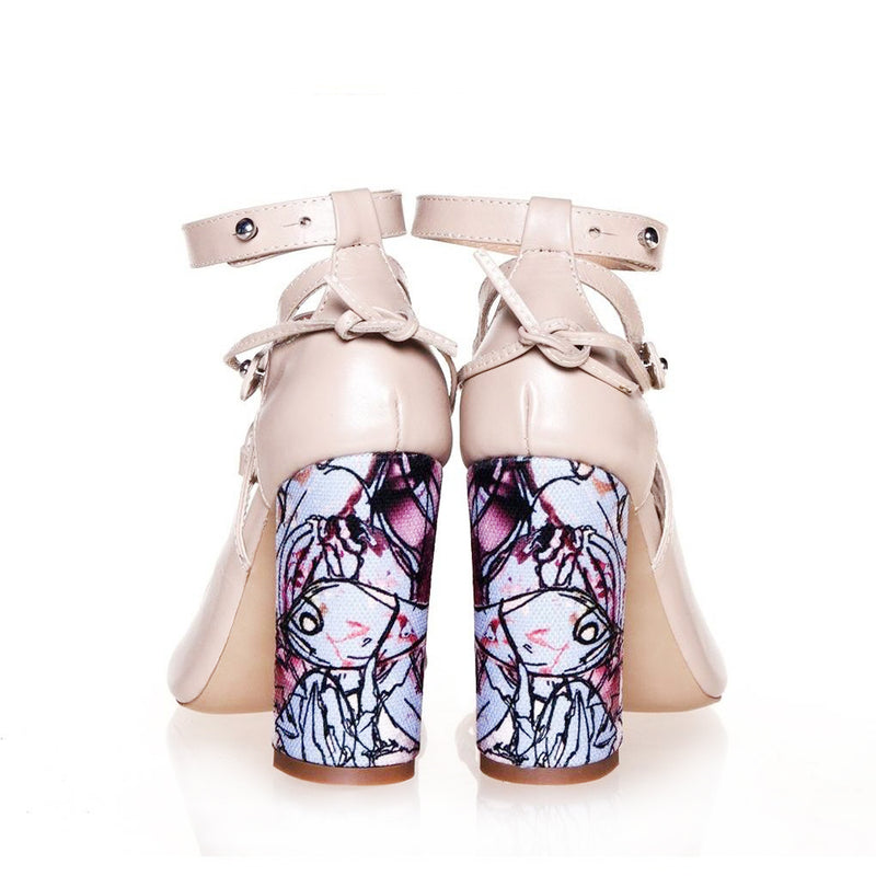 Fishy Heels Beige Sandals